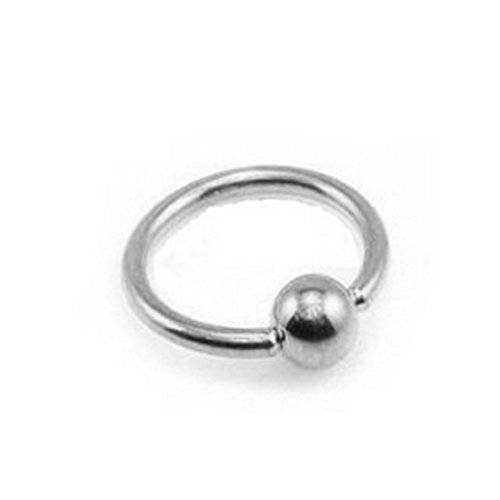 Solid Gold Captive Bead Ring - 3