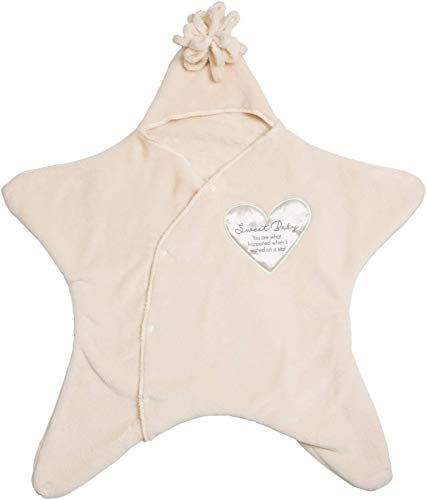 Pavilion Gift Company Blanket Sweet Baby I Wished On A Star Newborn Swaddle ()
