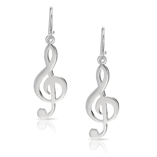 Melody Note Music Dangle Earrings Never Rust 925 Sterling Silver Natural And Hypoallergenic Hooks For Women And Girls With Free Breathtaking Gift Box For A Special Moment Of Love By Bling Bijoux