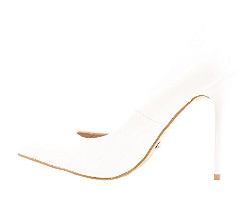 comode Weiss punta vernice a tacco Elara con tacco Paris in scarpe moderne stiletto con pump x0OnTwqnR