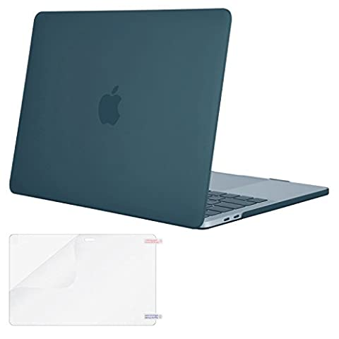 Mosiso MacBook Pro 13 Case 2017 & 2016 Release A1706/A1708, Plastic Hard Case Shell Cover with Screen Protector for Newest Macbook Pro 13 Inch with/without Touch Bar and Touch ID, Deep (Macbook Pro Rubber Cover 13 Inch)