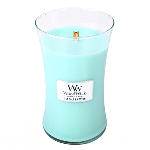 WoodWIck Candle Sea Salt and Cotton, Fresh Scent