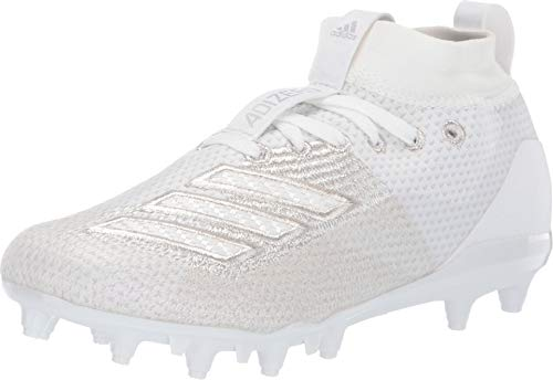 adidas Adizero 8.0 J Youth Football Cleats (6 M US Big Kid, Cloud White/Cloud White/Cloud White)
