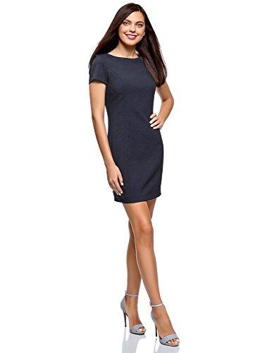 oodji Cintre Femme Basique Bleu Robe 7900n Ultra HwCvqZHT