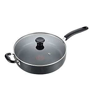 T-fal B36290 Specialty Nonstick 5 Qt. Jumbo Cooker Sauté Pan with Glass Lid, Black