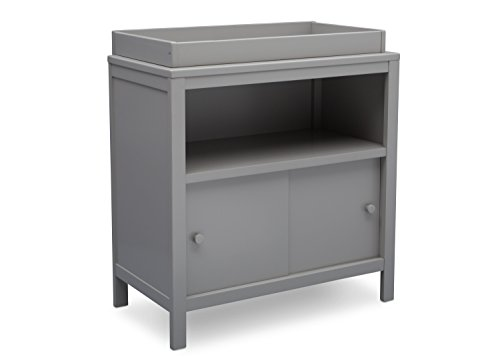 Delta Children Changing Table with Storage Space, Convertible Changing Unit, Grey by Delta Children