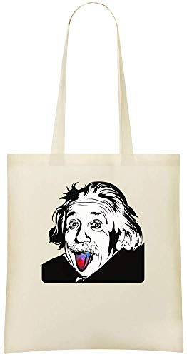 Custom Albert Sticks Bags Out Soft Stylish Custom 100 Everyday Albert Handbag Einstein Use Cotton Grocery Shoulder Tote langue amp; Friendly sa Printed Eco For Tongue Einstein Bag colle pwzYqI
