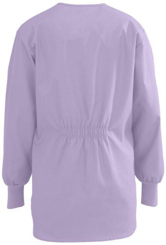 Medline 8812JLVS ComfortEase Shirttail Style Scrub Jackets, Small, Lavender