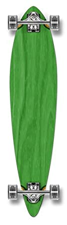 Yocaher Punked Stained Pintail Complete Longboard Skateboard, 40 x 9-Inch, Green Size:40 x 9-Inch Color:green