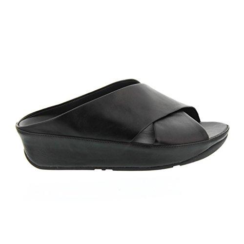 36964ec7e904 FitFlop Women s Kys Slide All Black Sandal Size 6 - Import It All