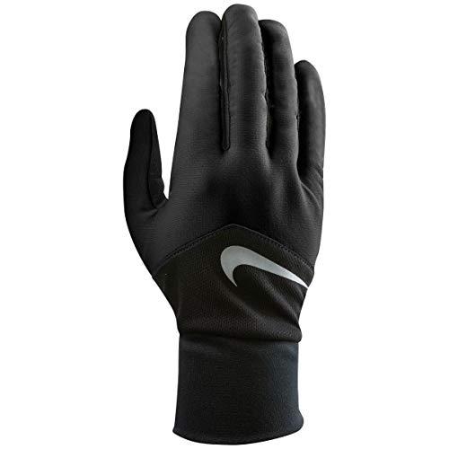 Nike Women's Dri-Fit Tempo Run Gloves,Small (Black/Silver)