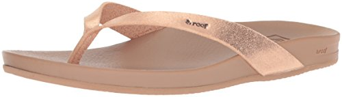 REEF Women's Cushion Bounce Court Sandals, Rose Gold, Size 8