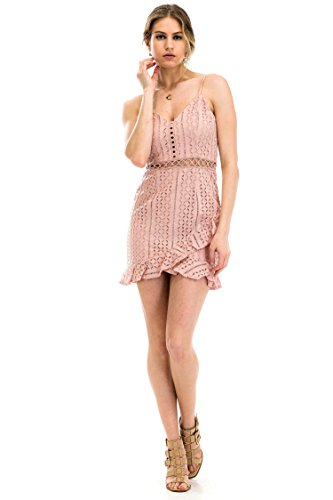 (Malibu Days Crochet Front Ruffle Mini Dress)