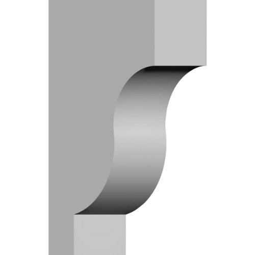 Traditional Corbel - Ekena Millwork COR02X06X10TR 2 7/8-Inch W x 5 7/8-Inch D x 10-Inch H Traditional Corbel