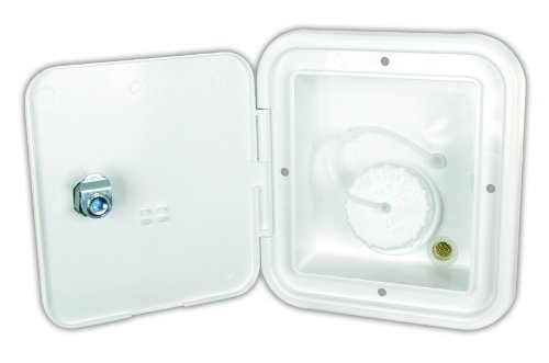 JR Products JFE12-A Polar White Key Lock Gravity Water Hatch