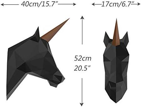 Origami Animal Kit ENDARK Fox Paper Trophy DIY Papercraft 3D Animal Head Wall Mounted