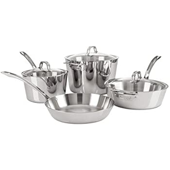 Viking Contemporary 3 Ply Stainless Steel Cookware Set, 7 Piece