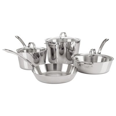 Viking Contemporary 3-Ply Stainless Steel Cookware Set, 7 Piece