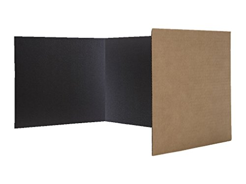 Flipside Products Economical Study Carrel Black Corrugated Pack of 24 - Study Carrel