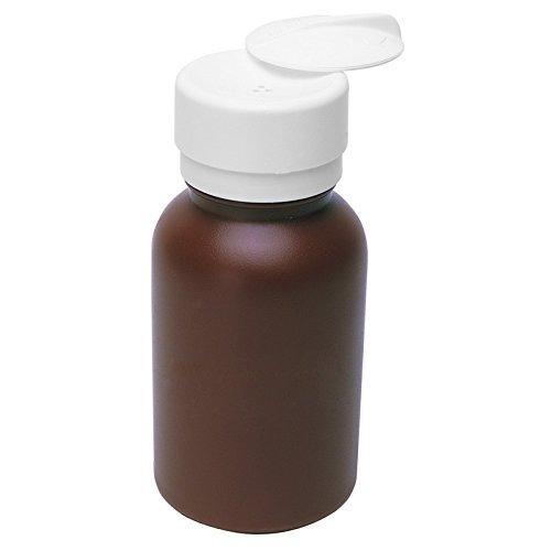 MENDA 35602 High-Density Polyethylene/Hdpe/Polypropylene/Steel/Low-Density Polyethylene/Ldpe Dispensing Bottle, Lasting-Touch, Round HDPE, 8 oz., 8 fl. oz. Capacity, Brown