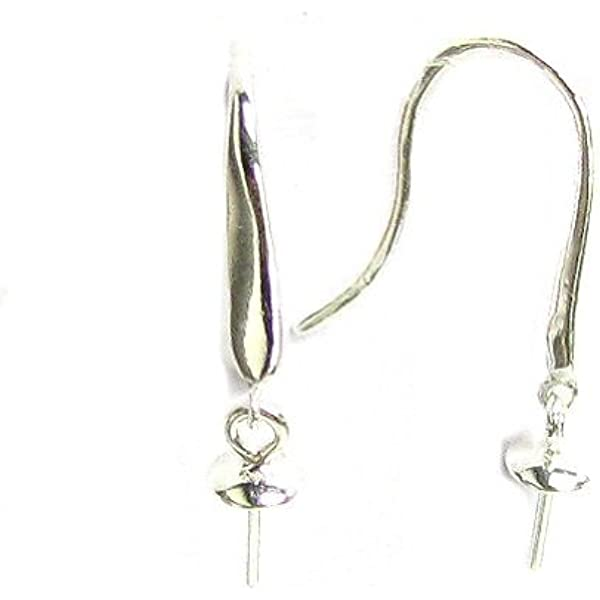 whitecracked glass earrings with a .925 sterling silver french hook