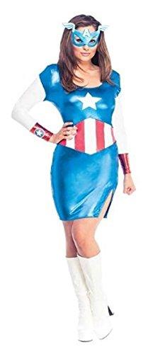 Cosplay capitan america para mujer