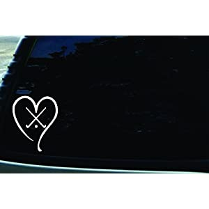 4″ X 5″ Field Hockey Love Vinyl DIE CUT decal for your car, truck, window, laptop, MacBook