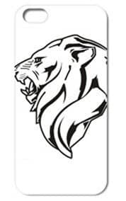 Fashion The Lion Pattern Protective Hard Case Cover For iPhone 5 5S #039