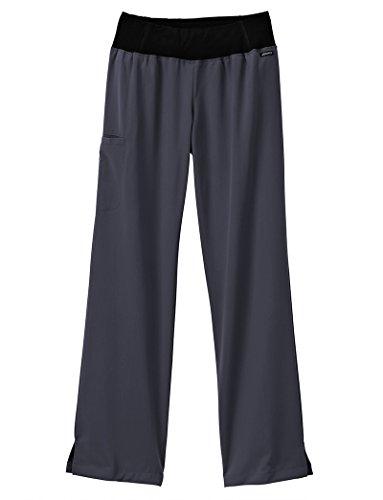 Jockey Women's 2358 Perfected Yoga Pant- Charcoal- X-Large by Jockey® Scrubs
