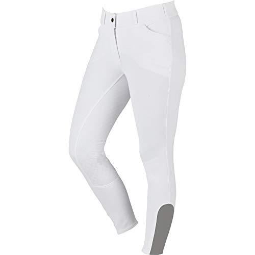 Dublin Elite Gel Full Seat Riding Breeches 28 inch White ()