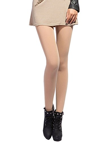 Bestgift Womens Footless Stretchy Slim Leggings Tights One Size Nude (Stretchy Footless Tights Leggings)