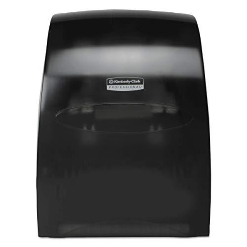 Kimberly-Clark Professional 09996 Sanitouch Hard Roll Towel Dispenser, 12 63/100w x 10 1/5d x 16 13/100h, Smoke (Renewed) (13 63)