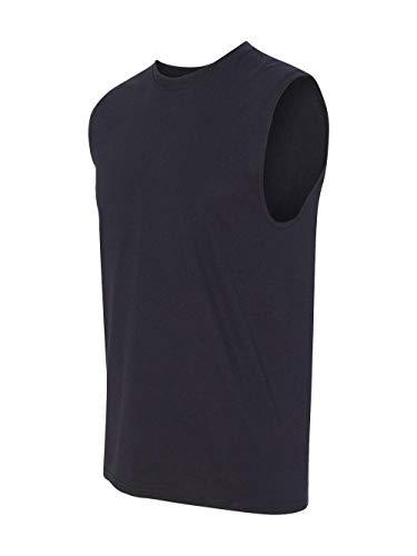 Jerzees Men's Advance Performance Sleeveless T-Shirt, Black, Large
