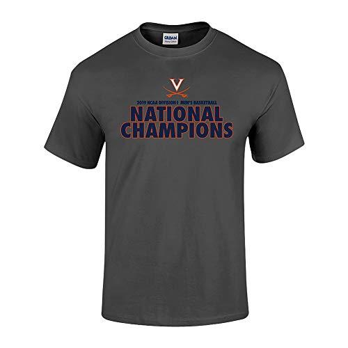 - Elite Fan Shop Virginia Cavaliers National Basketball Champions Tshirt 2019 Bold Charcoal - L
