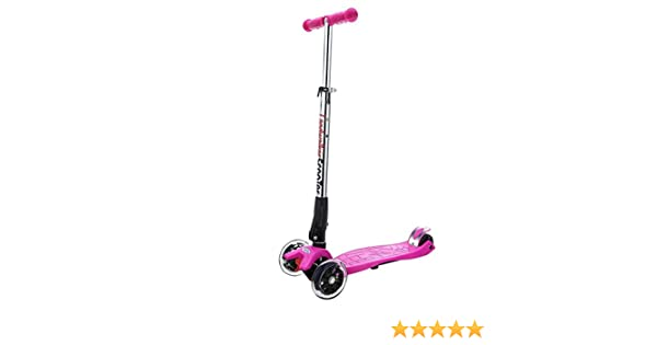 ENKNIGHT Patinete plegable para niños con 3 ruedas y ruedas de poliuretano con luz LED (campana y molinillo de viento)