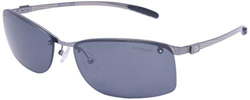 Ocean Sunglasses - Los Angeles - lunettes de soleil en Fibre de carbone - Monture : Cuivre/Argent - Verres : Fumée Blanc (21000.2)