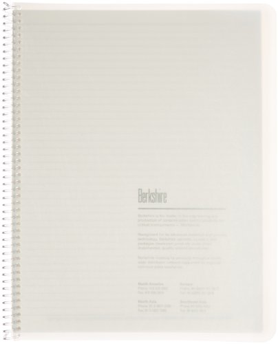 Berkshire BCR College Rule Spiral Notebook, 8-1/2'' x 11'' (Case of 10 Packs) by Berkshire