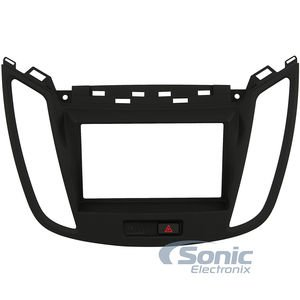Metra 99-5833B Double/Single DIN Dash Kit 2013-UP Ford Escape - Black ()