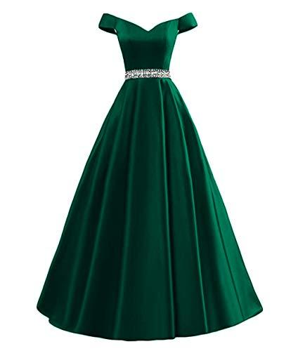 9accefa30f7 Dymaisei Women s Beaded Off Shoulder A-Line Evening Prom Dresses 2019 Long Formal  Dresses
