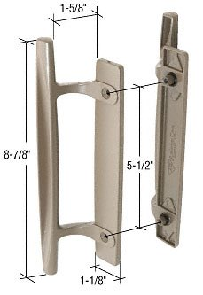 Stone 8-7/8u0026quot; Sliding Glass Door Handle Set; 1-5  sc 1 st  Amazon.com & Stone 8-7/8