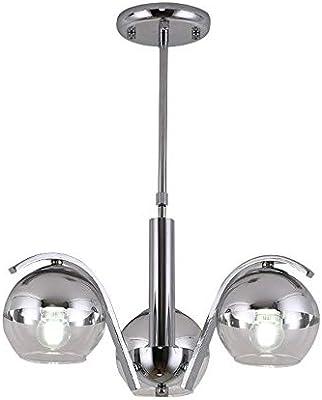 Amazon.com: Moderna lámpara de araña de rama de metal ...