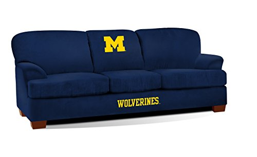 Imperial Officially Licensed NCAA Furniture: First Team Microfiber Sofa/Couch, Michigan Wolverines