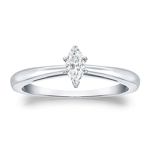 ng Marquise-cut Diamond Solitaire Ring (1/4 cttw, O.White, I1-I2) Size 4.5 (Fancy Marquise Cut Diamond)