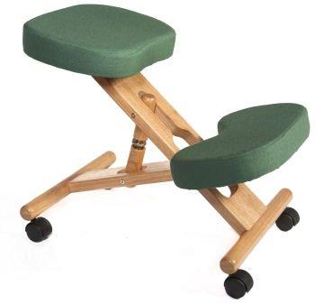 Wooden Kneeling Chair Ergonomic Posture Chair Green Amazoncouk