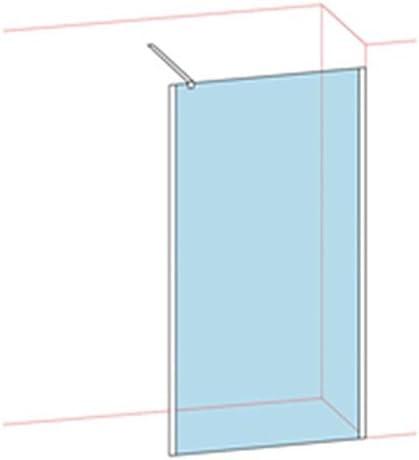 Mampara de ducha única titanio Walk Larg: 117,5 – 119,5 cm cristal ...