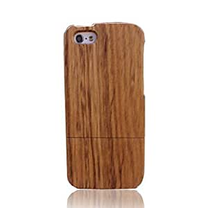 PEACH Zebra Bamboo Wood Protective Case Cover for iPhone 5/5S