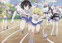 Gatos banderas Pandora corazones Carrera Running Anime pista ...