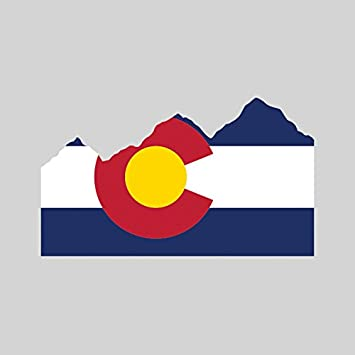 Sweet Colorado Flag And Mountain Sticker