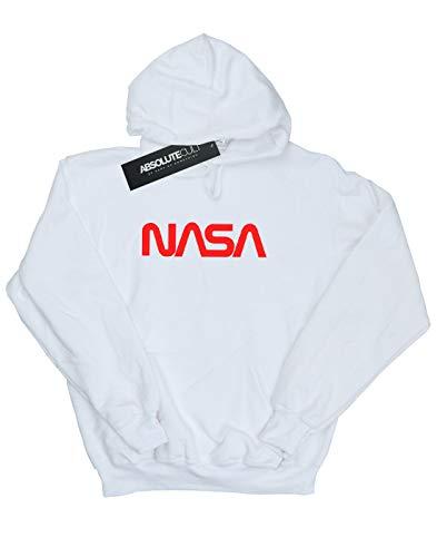 Felpa bianca Cult con Girl Nasa cappuccio Modern Absolute Logo wOvTFqF