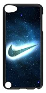 Customizablestyle Nike Logo with Blue Neon iPod Touch 5 Case Hard Shell(PC Material)